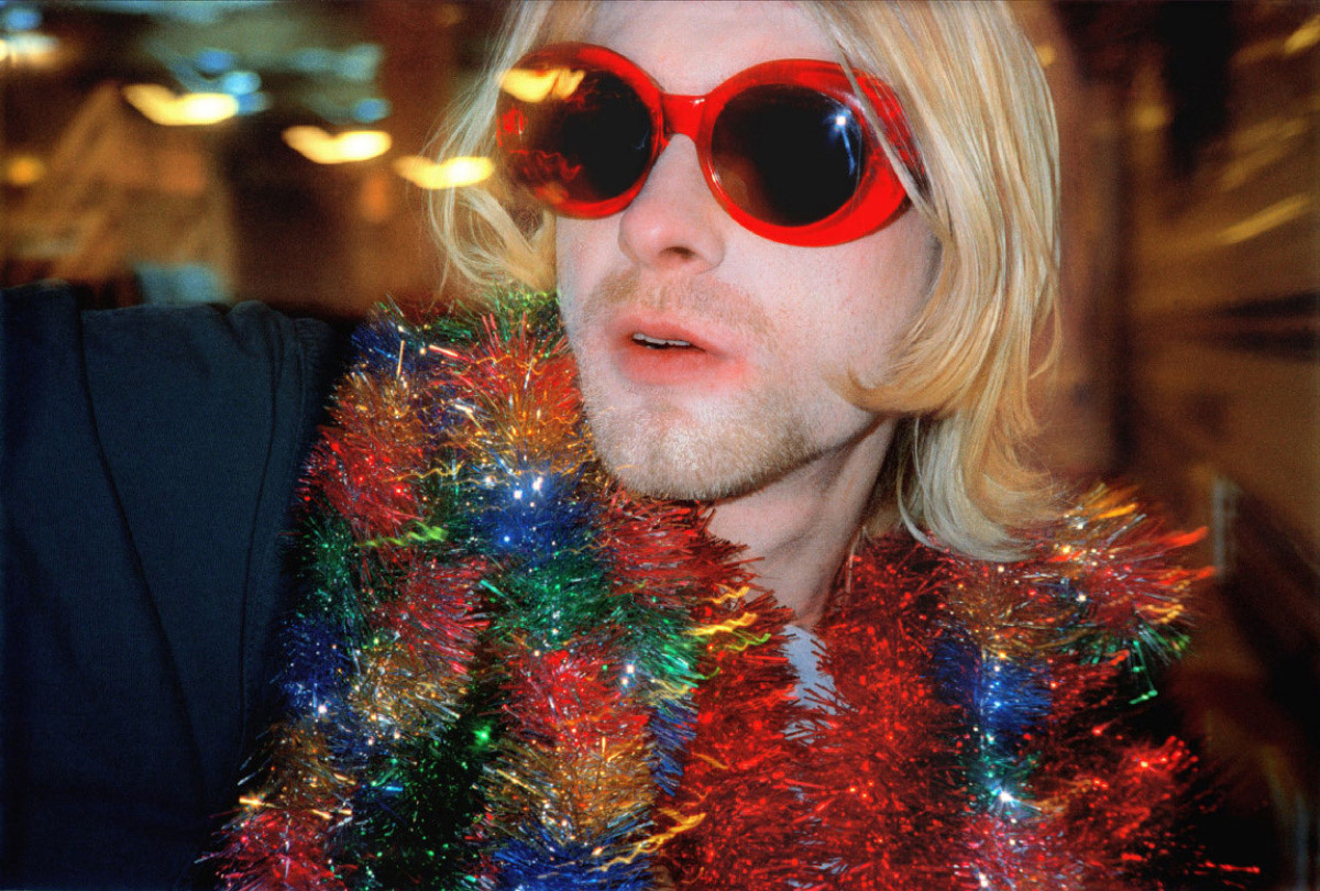 Cobain with tinsel